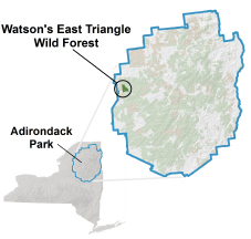 Watson's East Triangle locator map
