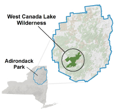 Lakes Of Canada Map.West Canada Lake Wilderness Nys Dept Of Environmental Conservation