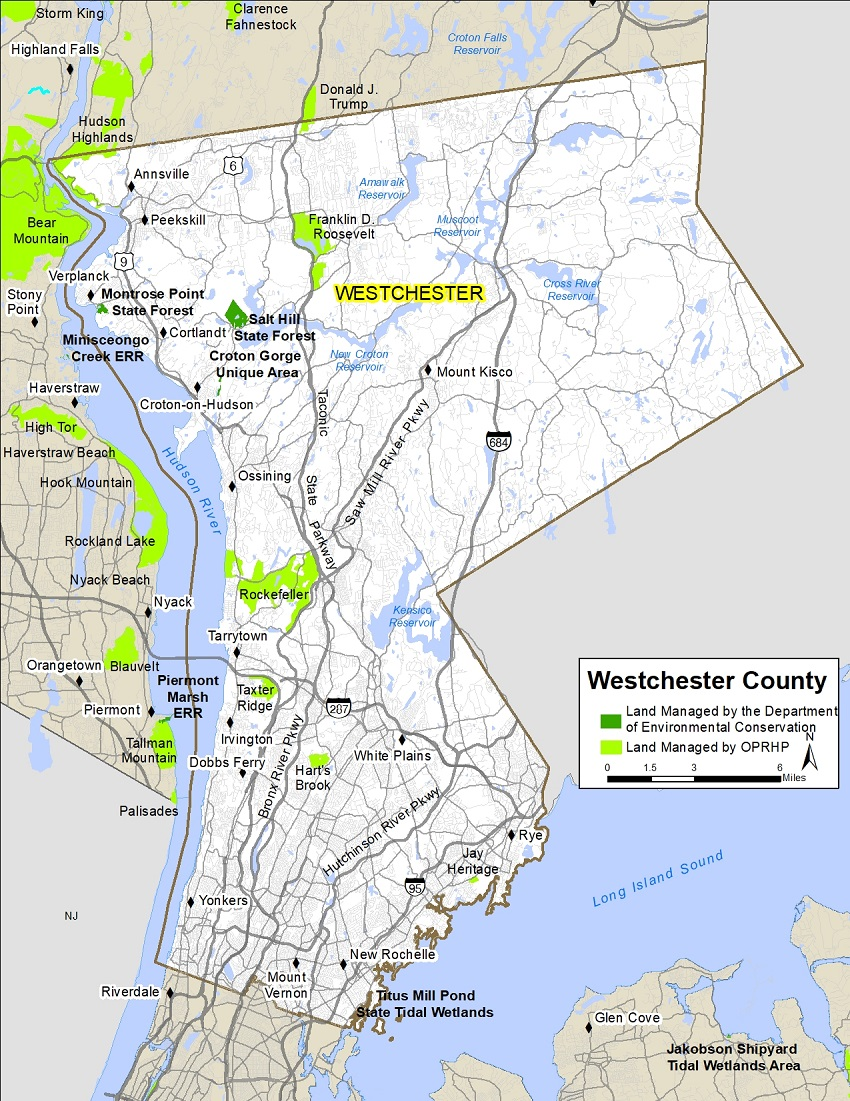 Map Of Westchester County New York Westchester County Map   NYS Dept. of Environmental Conservation