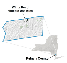 White Pond Multiple Use Area locator map