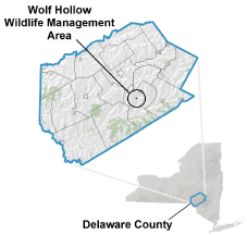 Wolf Hollow WMA Locator Map