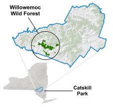 Willowemoc locator map
