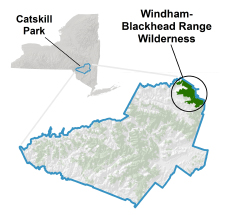 Windham-Blackhead Range Wilderness locator map