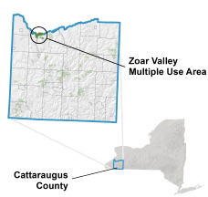 Zoar Valley Multiple Use Area locator map
