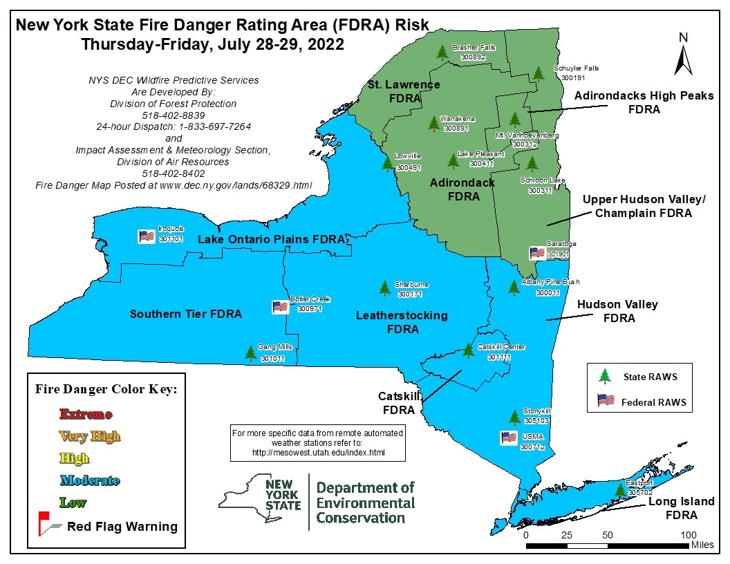 New York Fire Danger Map