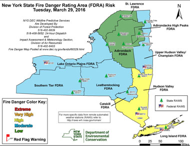 map of fire danger adjective rating