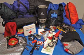 More items are included in the inclement weather kit than the basic kit