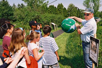 a class at a 5 Rivers Earth Day event