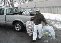 Photo from a fundraising bottle drive