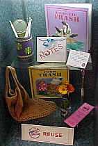 a library display