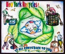One of the winning posters from the NY state schools recycling poster competition