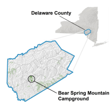 bear spring mountain location map