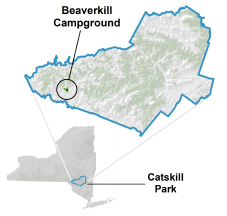 beaverkill location map