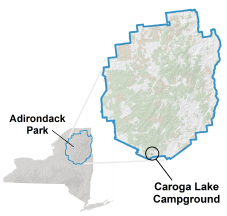 caroga lake campground location map