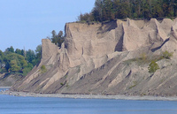 Chimney Bluffs State Park - Eroded remains of drumlins on the shore of Lake Ontario