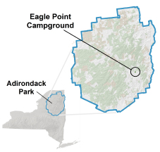 eagle point campground location map