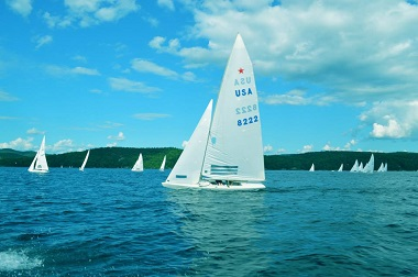 sail boats on lake george