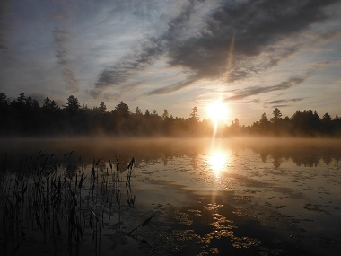 sunrise over the water & Lake Durant Campground u0026 Day Use Area - NYS Dept. of Environmental ...