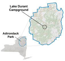 lake durant location map
