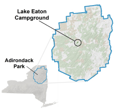 lake eaton location map