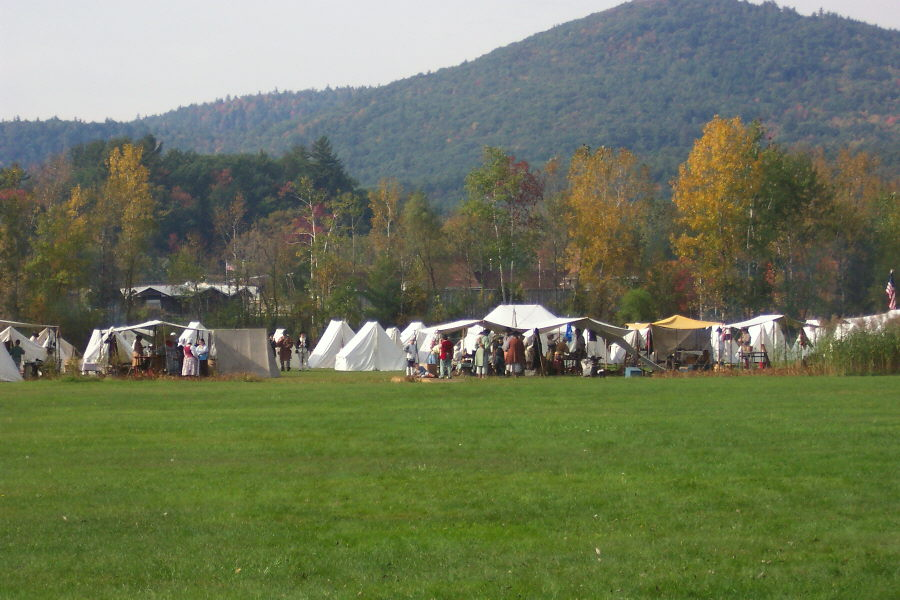 Reinactment near Lake George Battleground Campground