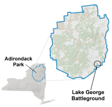 lake george battleground location map