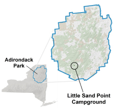 little sand point campground location map