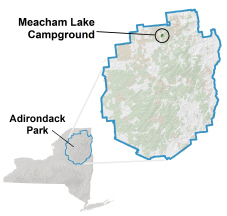 meacham lake campground location map