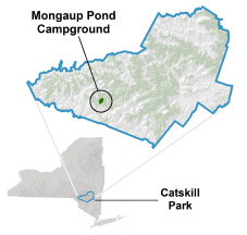 mongaup pond location map