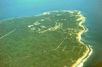 Aerial view of Montauk Point