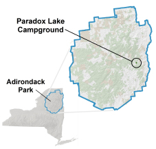 paradox lake campground location map
