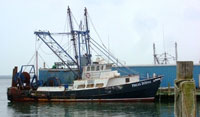 A commercial fishing boat at dock