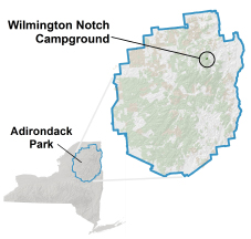 wilmington notch campground map