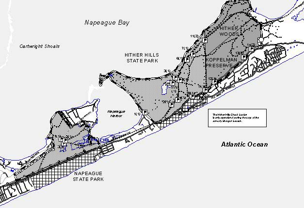 Map of Hunting Areas at the East Hampton Cooperative