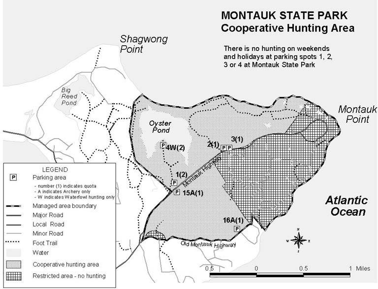 Map of Hunting Areas at Montauk State Park