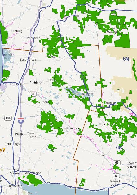 Wildlife management unit 6k map nys dept of for Nysdec fishing regulations