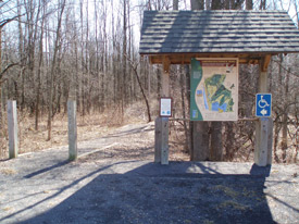 Lakeview WMA kiosk.