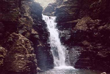 Waterfall in southwestern portion of Allen Lake State Forest