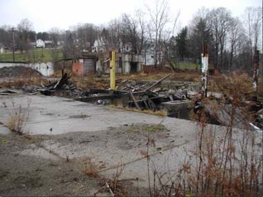Bush Industries brownfield site before cleanup