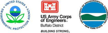 logos of EPA, DEC and Army Corps of Engineers