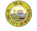 Logos of Buffalo Niagara Riverkeeper and a graphic of the seal of the City of Buffalo