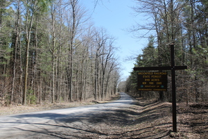 Brookfield Railroad State Forest entrance