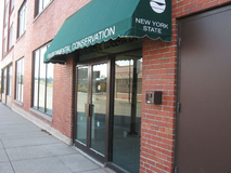 Street level view of Region 9 office entrance