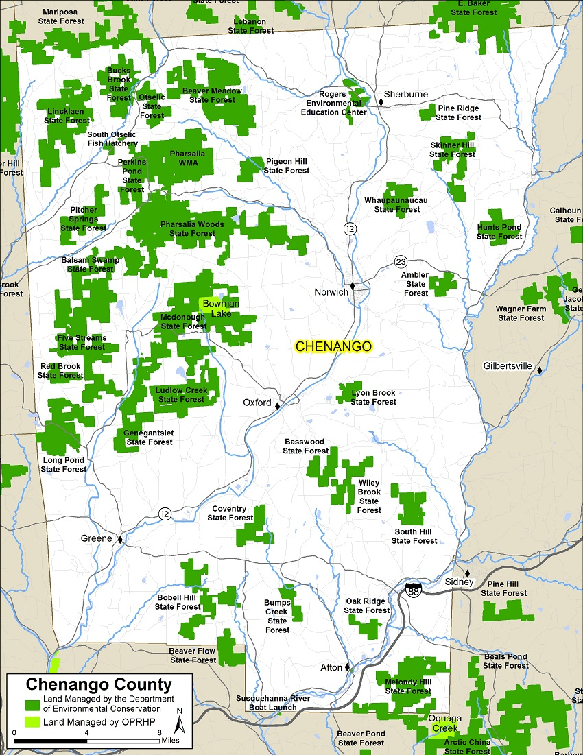 Chenango County Map NYS Dept Of Environmental Conservation - Nys county map