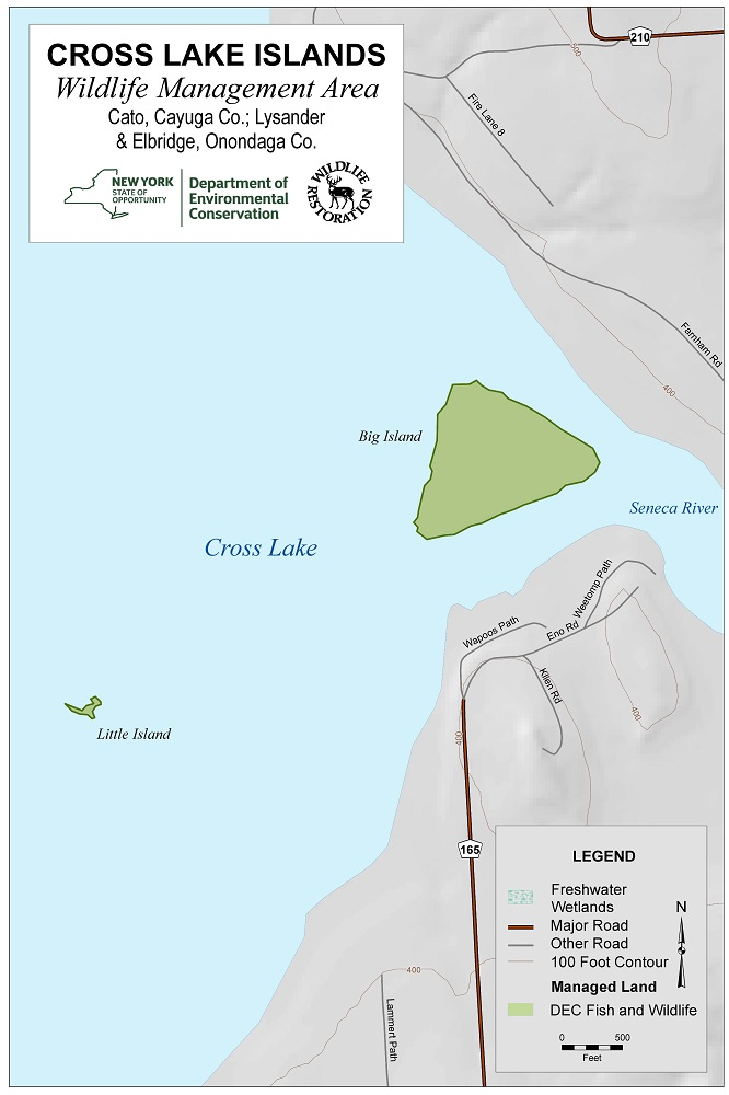 Cross Lake Islands Wildlife Management Area Map