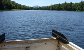 Row boat on Jackson Pond