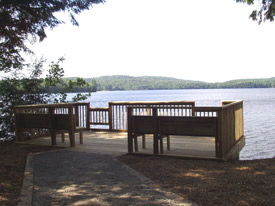 Fishing pier overlooking Horseshoe Lake