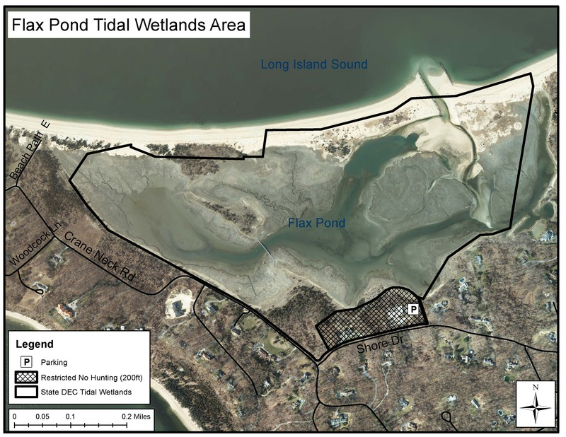 Flax Pond Tidal Wetlands Area DEC Map