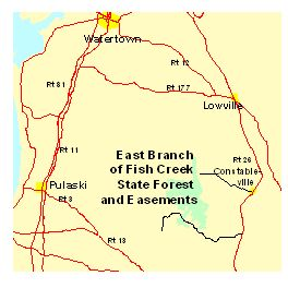 Location map for East Branch of Fish Creek SF
