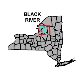 Map shows location of Black River